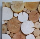 Log Wall Art - RECTANGULAR MOSAIC in NORDIC WHITE